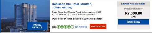 Radisson Blu Hotel website