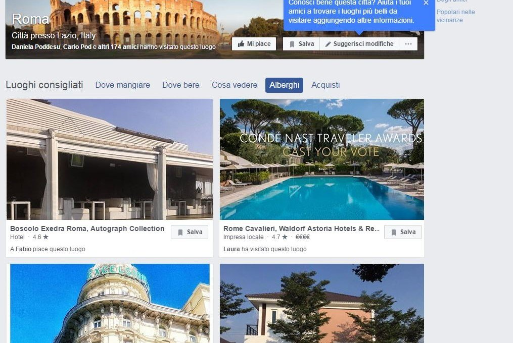 Facebook City Guides for Hotels